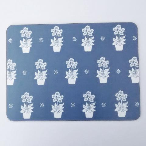 Dark Blue Primula Placemats