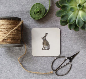 Sitting Hares Coasters