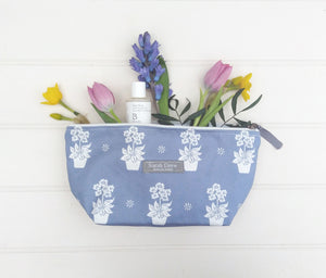 Dark Blue Primula Washbag