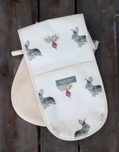 Daisy Rabbit and Vegetables Double Oven Glove