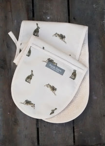 Hares Double Oven Gloves