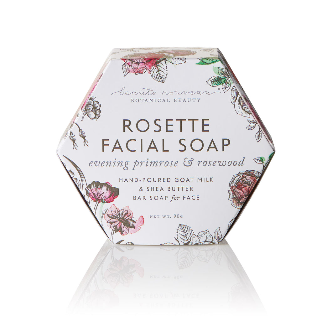 Rosette Facial Bar Soap with Evening Primrose  & Rosewood Oil