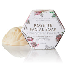 Load image into Gallery viewer, Rosette Facial Bar Soap with Evening Primrose  & Rosewood Oil