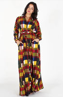 Plaid Multicolored Maxi Dress