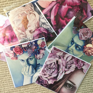 Mixed pack of Greetings Cards (6)