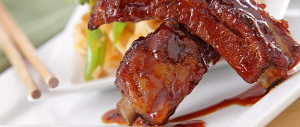Hoisin BBQ Pork Ribs & Vegetable Pad Thai Noodles