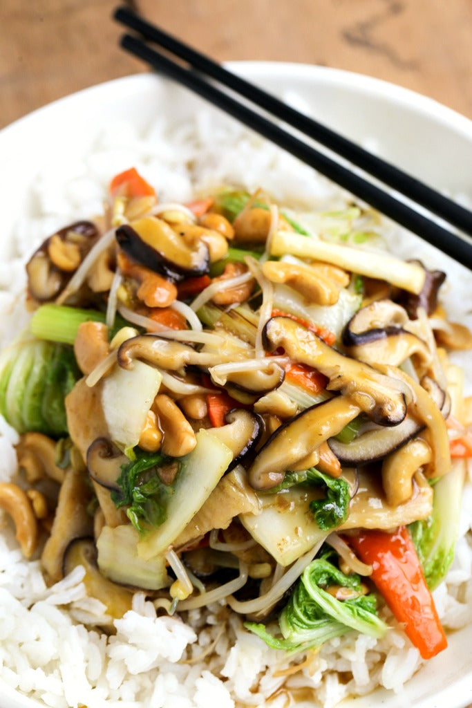 Chinese Chicken Chop Suey with Ginger Soy Sauce