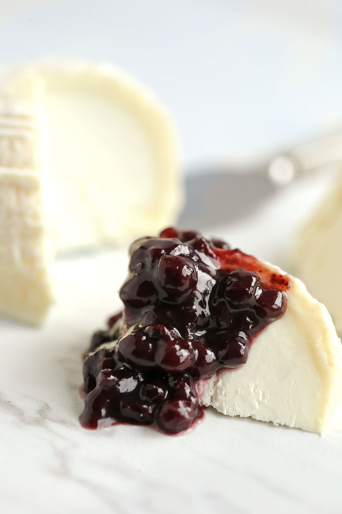 Goats Cheese with Wild Blueberry Maple Walnut Compote Preserves