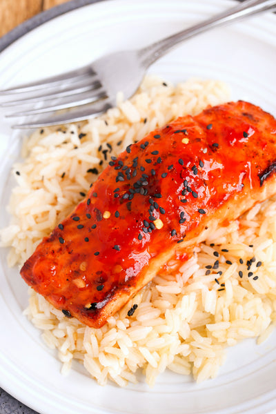 Hot Pepper Jelly Salmon | Wozz! Kitchen Creations