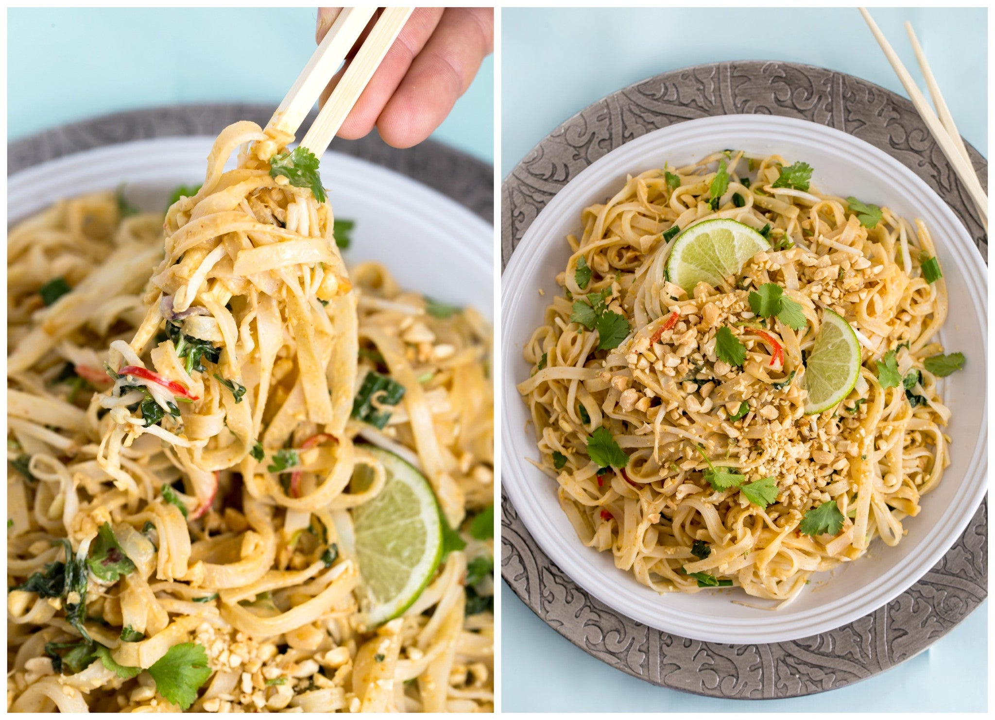 Noodles with Cambodian Coconut Peanut Sauce