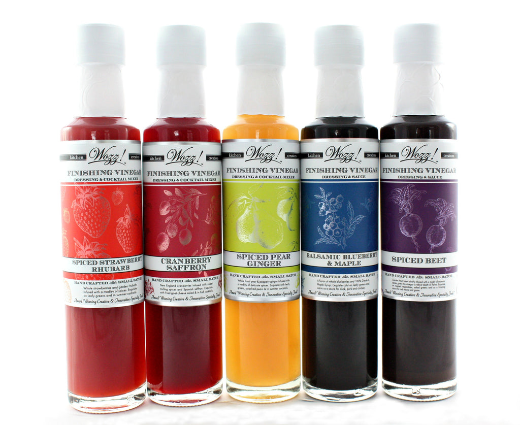 Gourmet Vinegars | Gourmet Fruit Vinegars | Wozz! Kitchen Creations