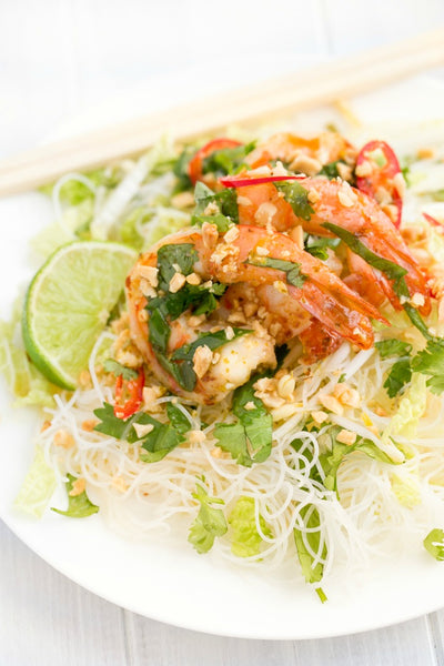 Vietnamese Shrimp Vermicelli with Nuoc Cham Dressing | Wozz! Kitchen Creations