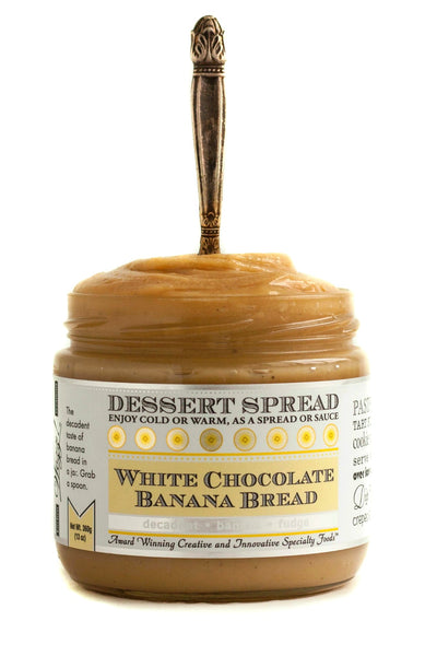 White Chocolate Banana Bread Dessert Spread | Wozz! Kitchen Creations