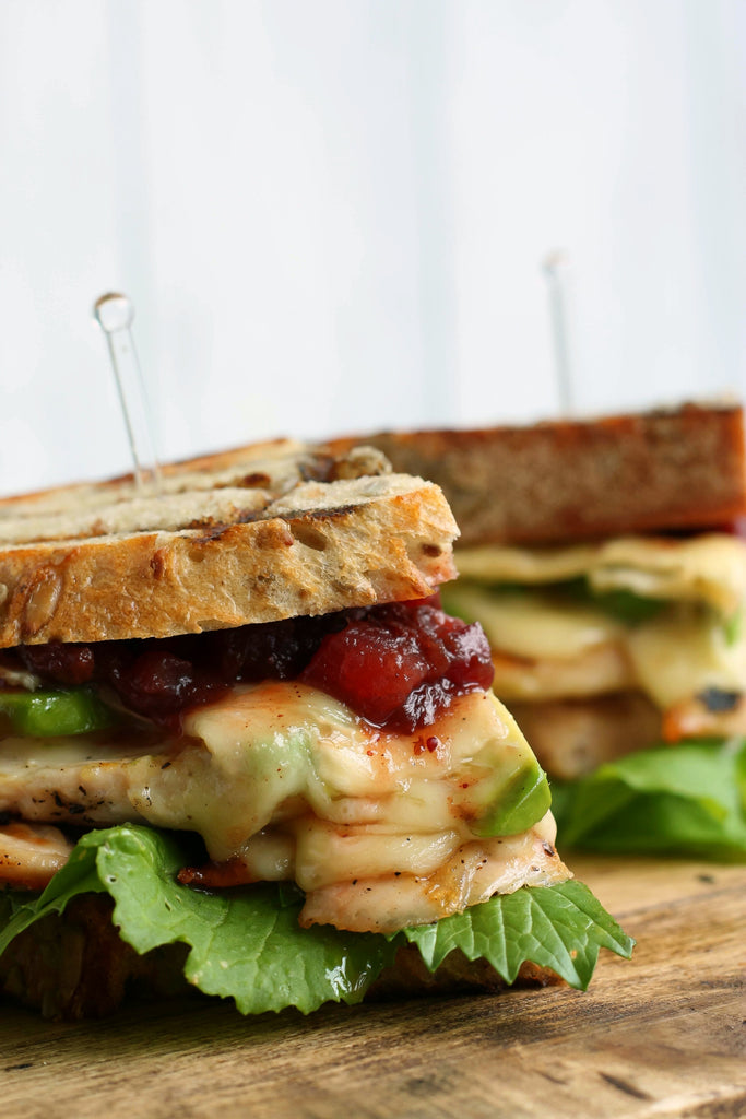 Grilled Chicken, Brie and Cranberry Chutney Sandwich