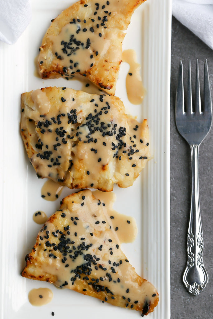 Broiled Cod with Japanese Sesame Miso