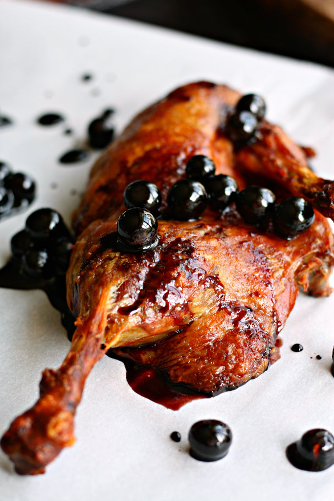 Crispy Duck with Balsamic Blueberry Sauce | Wozz! Kitchen Creations