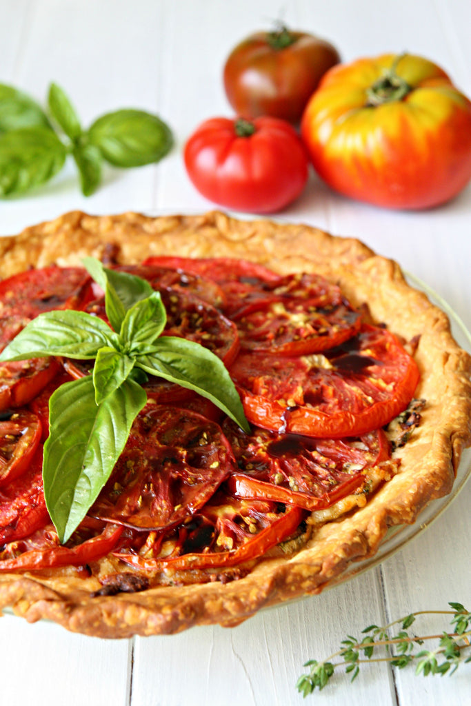 Heirloom Tomato Basil Pie | Wozz! Kitchen Creations