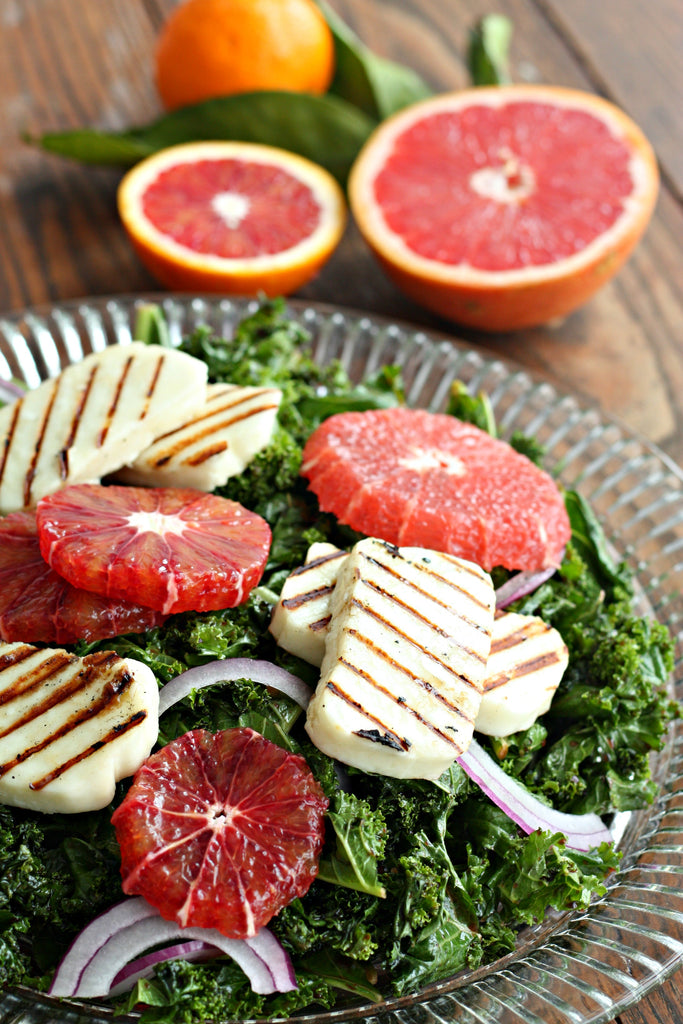 Kale Citrus Salad with Spiced Beet Vinegar | Wozz! Kitchen Creations