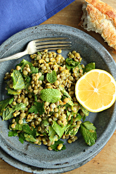 Lentil Salad with North African Chermoula Dressing