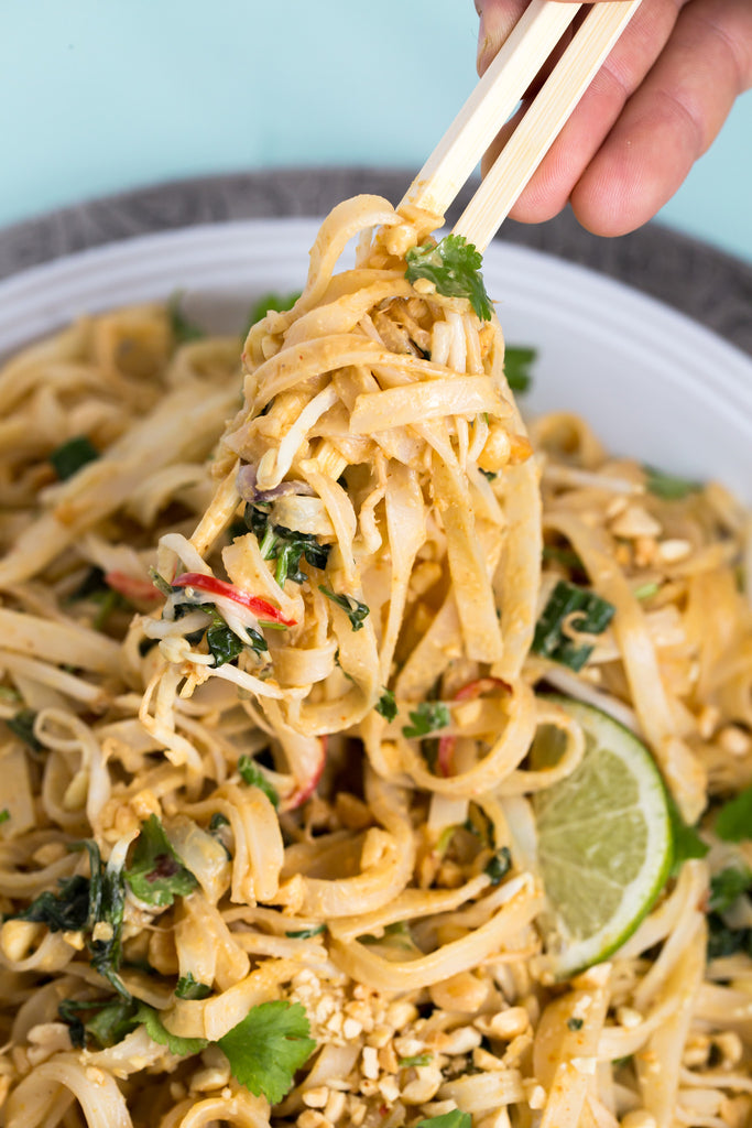 Cambodian Noodles with Coconut Peanut Sauce