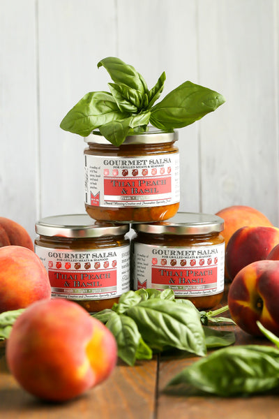 Thai Peach Basil Salsa | Wozz! Kitchen Creations