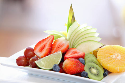 Fruit Plate with Lychee Coconut Lime dressing