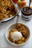 Apple Crisp with Rum Sauce