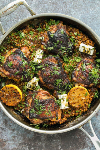Chermoula Marinated Chicken Thighs