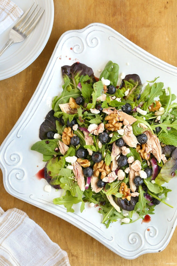 Chicken Walnut Salad with Balsamic Blueberry Vinegar
