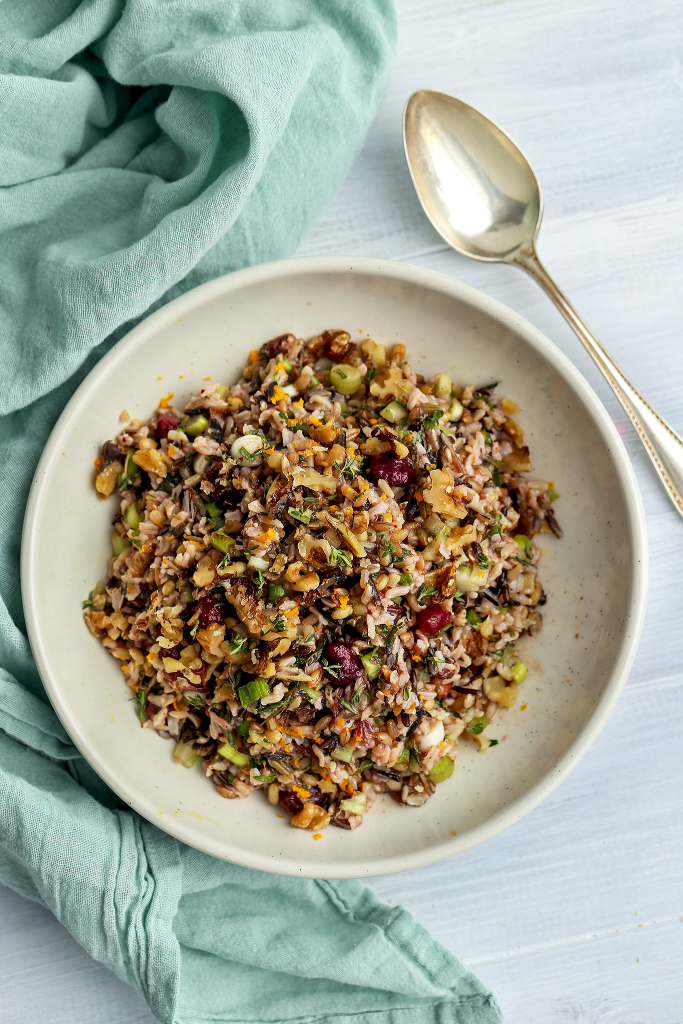 Cranberry Orange Wild Rice Salad Recipe | Cranberry Orange Chutney Rice Salad