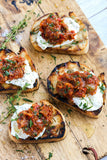 Grilled Rustic Bruschetta with Caponata