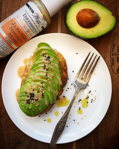 Avocado Toast with Sesame Miso Dressing