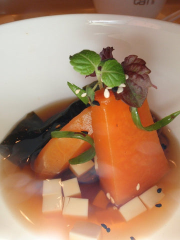 Japanese Dashi Poached Squash