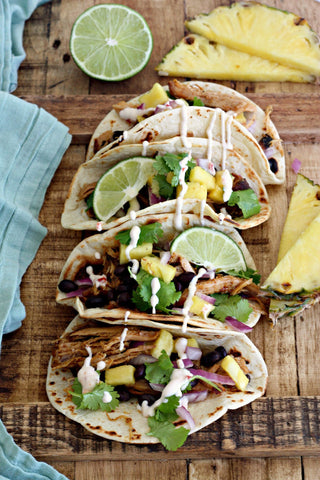 Jerk Pineapple Pulled Pork Tacos
