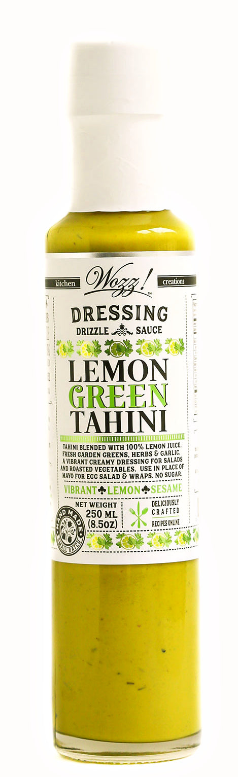 Lemon Green Tahini Dressing | Tahini Dressing | Wozz Kitchen Creations
