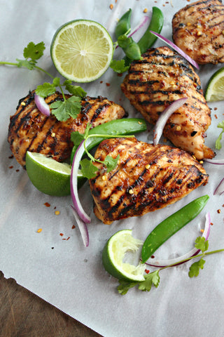 Lychee Coconut Lime Grilled Chicken | Wozz! Kitchen Creations