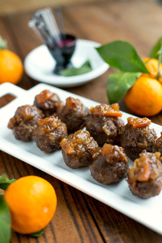 Party Meatballs with Date and Orange Chutney | Wozz! Kitchen Creations