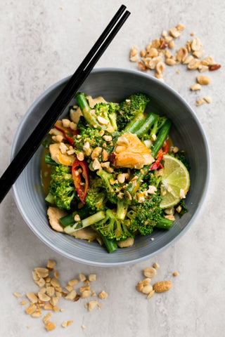 Chicken Stir Fry with Coconut Peanut Sauce | Wozz! Kitchen Creations