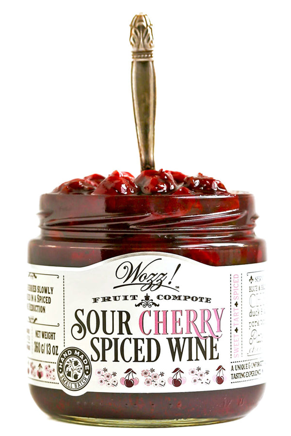 Sour Cherry Spiced Wine Fruit Compote | Sour Cherry Spread