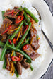 Spicy Orange Chili Beef Stir Fry with Sweet Chili Orange Sesame Sauce
