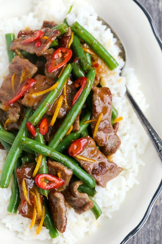 Spicy Orange Beef with Green Beans Stir Fry | Wozz! Kitchen Creations