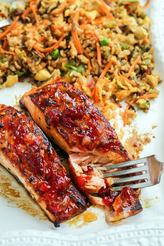 Hot Pepper Jelly Salmon