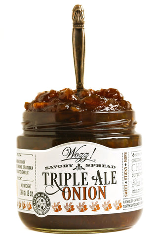 Triple Ale Onion Jam Savory Spread | Wozz! Kitchen Creations