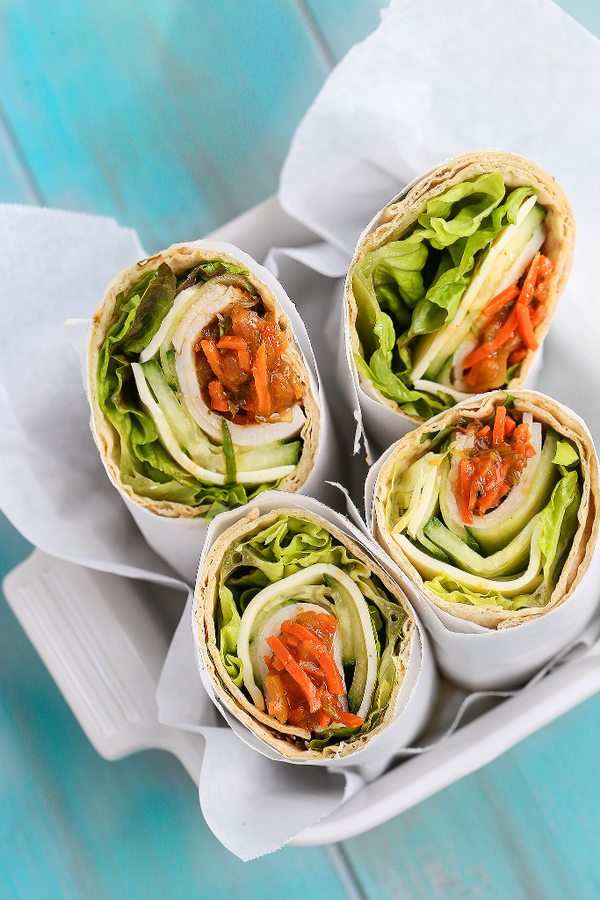 Turkey Cheese Wrap with Thai Orange Ginger Relish