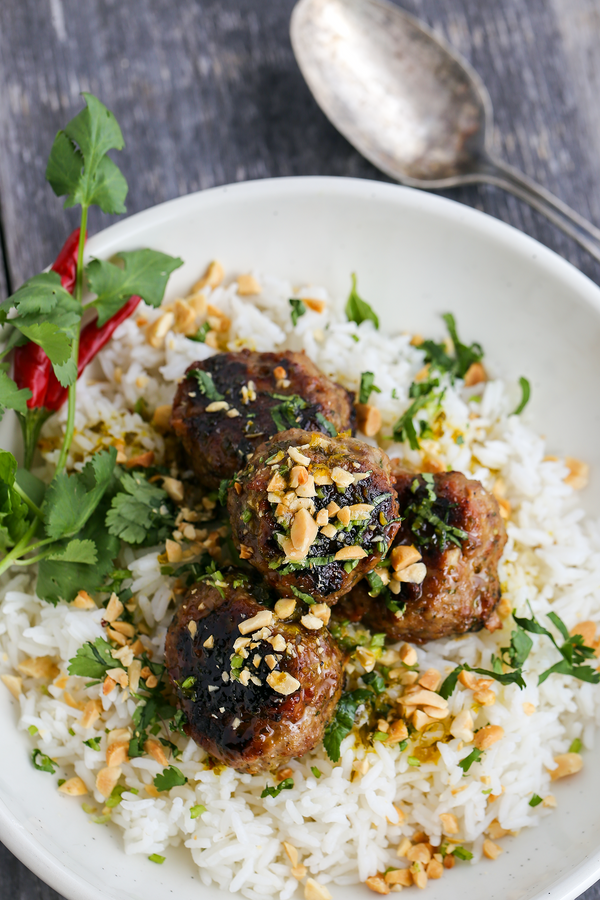 Vietnamese Meatballs with Nuoc Cham Sauce