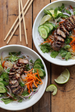 Vietnamese Caramelized Pork and Noodle Salad  with Vietnamese Dressing