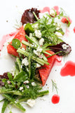 Watermelon Mint Feta Salad with Raspberry Red Wine Vinegar