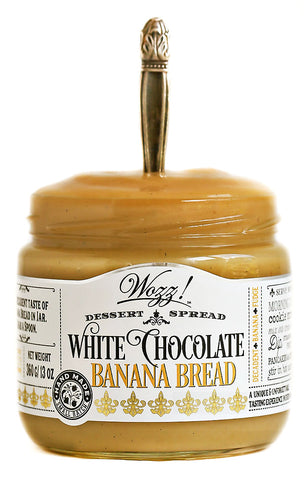 White Chocolate Banana Bread Dessert Spread