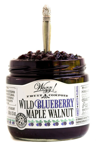 Wild Blueberry Maple Walnut Fruit Jam Compote with Rosemary and Balsamic