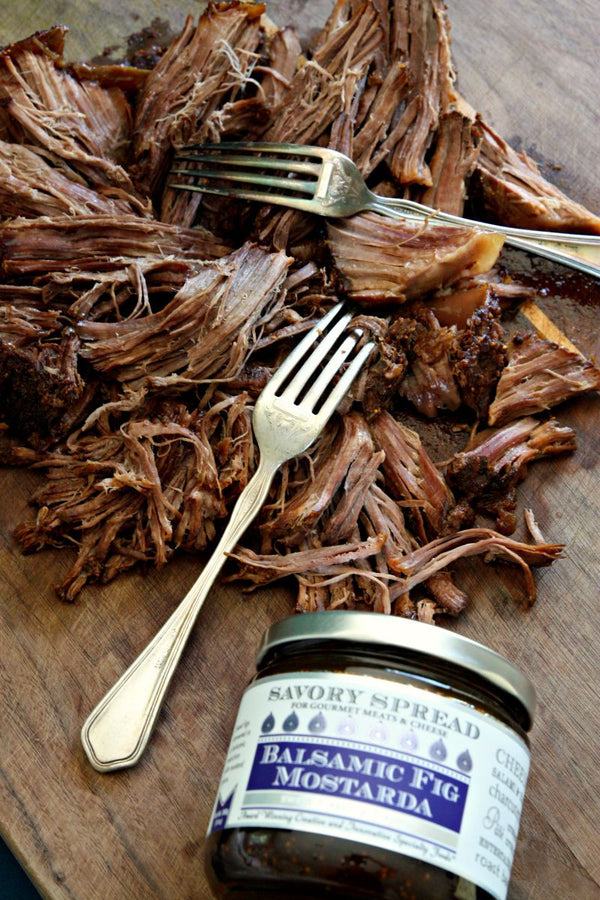 Balsamic Fig Shredded Beef | Wozz! Kitchen Creations